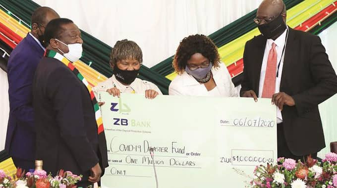 The Authority chips in towards the Zimbabwe Covid 19 disaster Fund